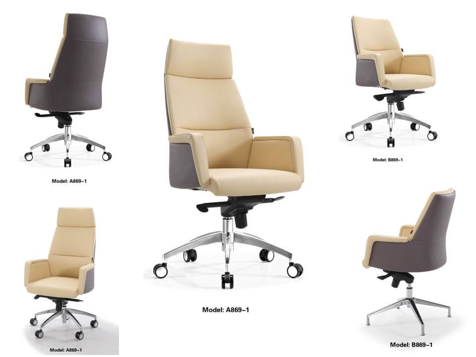 office chair leather 869 multi-angle